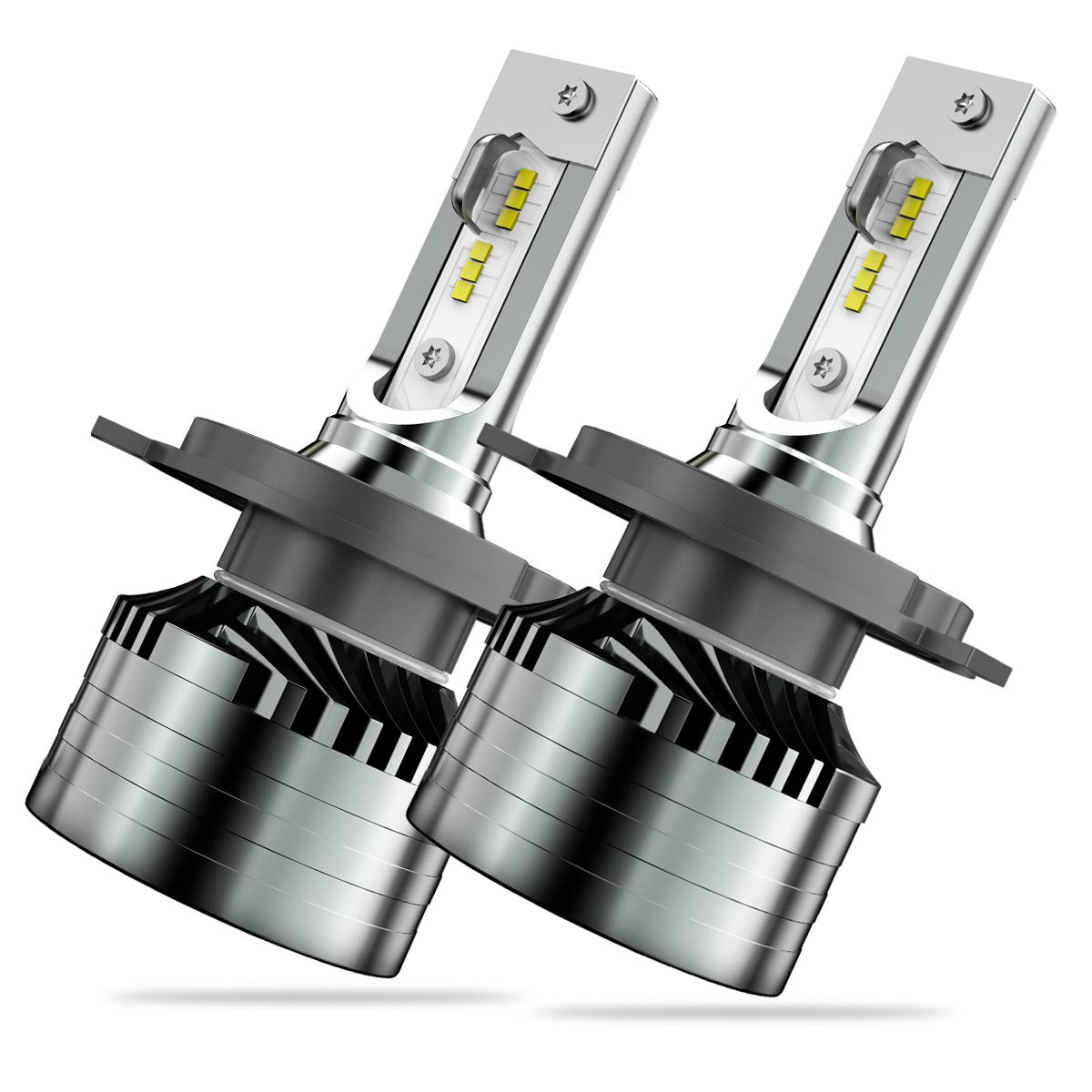 9003/H4 LED Headlight Bulbs, Marsauto M2 Series HB2 Led Hi/Lo Beam Headlamp with Fan, CSP Chip CANbus-Ready IP67 12000LM 6000K Xenon White 2-Pack,