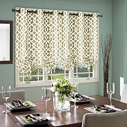 Thermalogic Trellis Cotton Curtains Tie Up Panel 40quot X 63quot