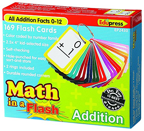 Edupress EP-2430 Math in a Color-Coded Addition Flash Cards, 1.5