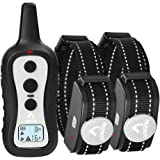 PATPET P301B Dog Training Collar for 2 Dogs, Shock Collar with Remote, w/3 Training Modes, Beep, Vibration and Shock, Up to 1