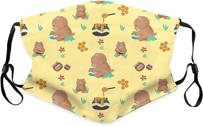 Minaxgy Fashion Cute Animal Printed Unisex Cotton Face Bandanas Haze Dust Face Health Protection for Adults 6pcs