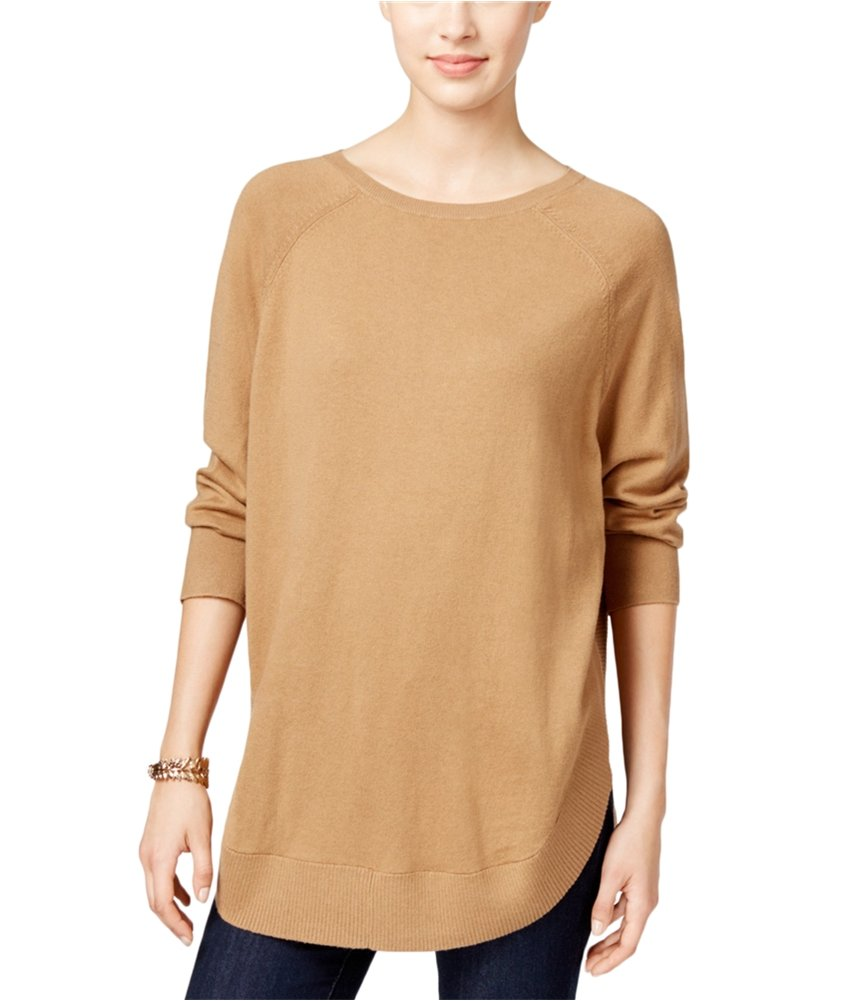 Style & Co. Womens Poncho Knit Sweater saltynut PM - Petite