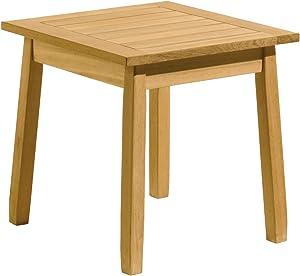 Oxford Garden - Siena Collection Shorea Side Table   100% Tropical Shorea Hardwood Outdoor Furniture
