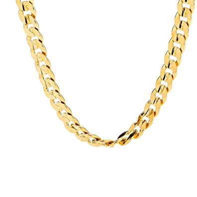 66071a63d Buy Best Cuban Link Chain 6MM Diamond Cut Fashion Jewelry Necklaces Made of  Real 24K Gold on Semi-Precious Metals, 100% Free (22.0) Online at Low  Prices in ...