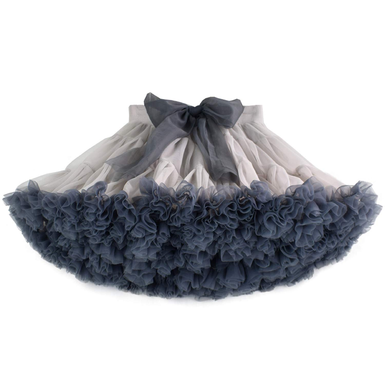 Tutu Skirt Extra Fluffy Kids Princess Soft Tulle Birthday Holiday Party Skirt