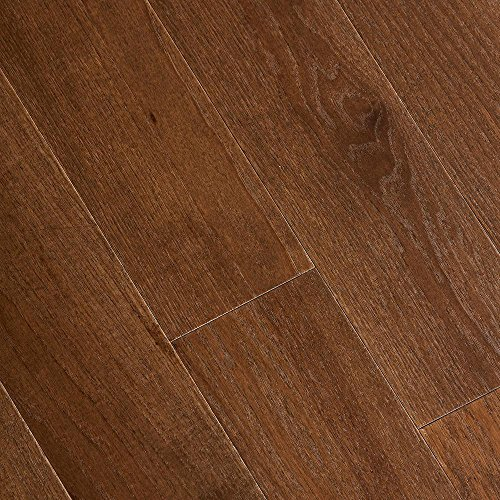 Wire Brushed Forest Trail Hickory 3/8 in. x 5 in. x 47-1/4 in. Length Click Lock Hardwood Flooring (19.686 sq. ft./case)
