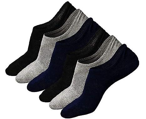new product 97a85 9a746 Teenloveme Calzini Fantasmini da Uomo, Calze Invisibili in Cotone  Elasticizzato Uomo, Uomo Sport Performance Trainer Calze con taglio basso,  3/6 paia