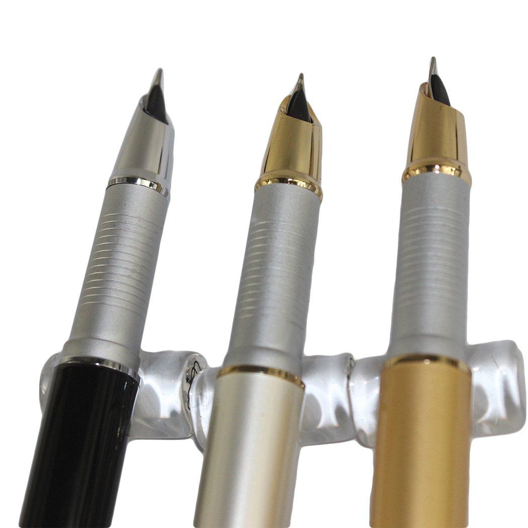 4 pz En conjunto Gullor 750 Pluma en 4 colores con la bolsa original de la pluma y 5 colores de cartucho de tinta colores oscuros