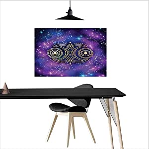 homecoco Sacred Geometry Kitchen Wall Decor Spiritual Icon Eye Bathroom Pictures Wall Decor W24 xL16 Inch