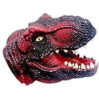 TrifyCore Guantes de muñecas de Cabeza Animal Guantes de Animales de simulación de Juguetes Infantiles(Dinosaurio Rojo)