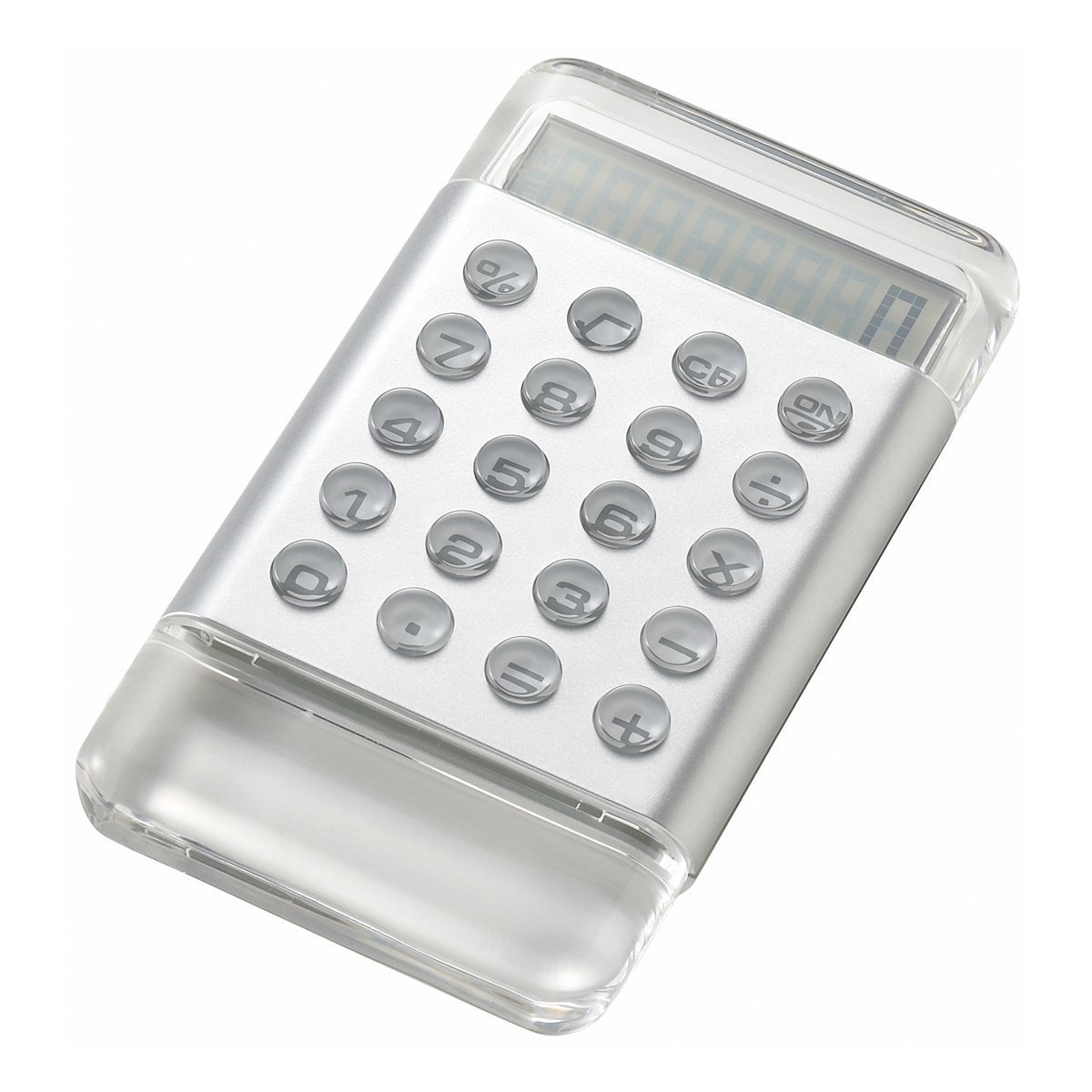 Color Acrylic Calculator Silver LDC011-SY 4190122 (japan import)