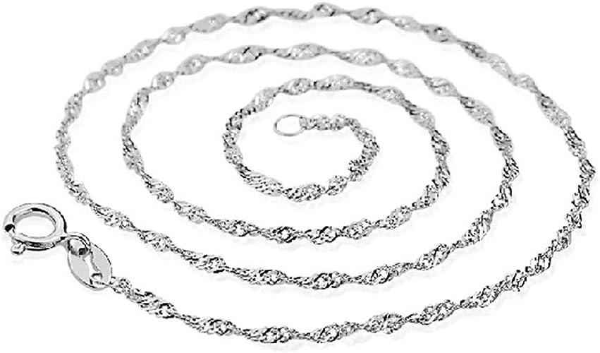 Silber 925 Sterling Panzerkette Silberkette Halskette Damen Länge 46 cm