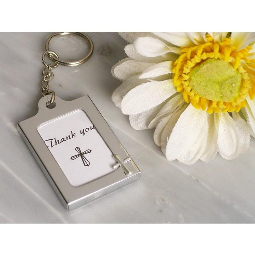 Memorable Moments Cross Design Keychain Photo Frame - 60 Pieces