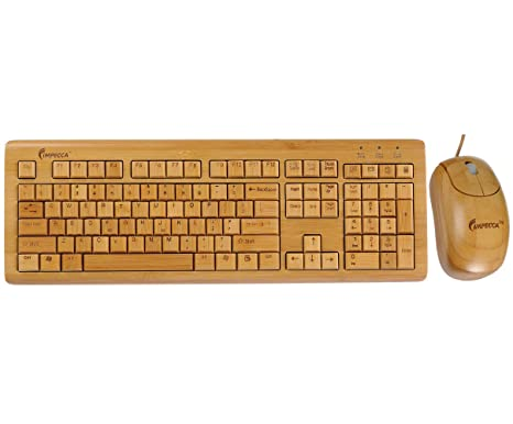 40394e345f5 Amazon.com: Impecca KBB500C 100% Bamboo Handcrafted Keyboard & Mouse ...