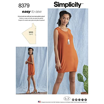 Amazon.com: Simplicity Sewing Pattern D0661 / 8379 - Misses\' Knit ...