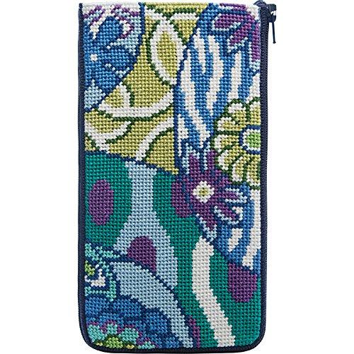Stitch & Zip Eyeglass Case Needlepoint Kit- Imari -
