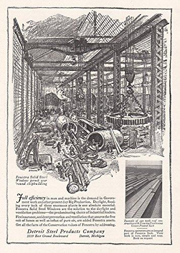 Windows Fenestra (1918 Detroit Steel Products: Fenestra Solid Steel Windows, Detroit Steel Products Print Ad)