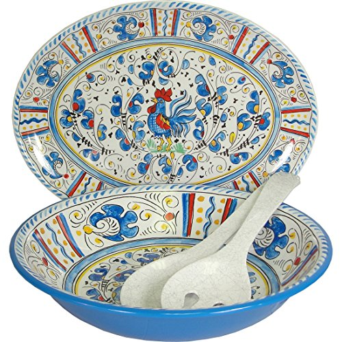 Blue Rooster Le Cadeaux Melamine Dinnerware 4 PC Serving  sc 1 st  Amazon.com & Melamine Christmas Dinnerware: Amazon.com