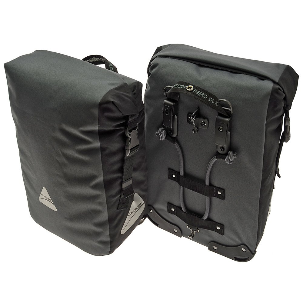 Axiom Monsoon Aero DLX 35 Pannier Set, Grey/Black