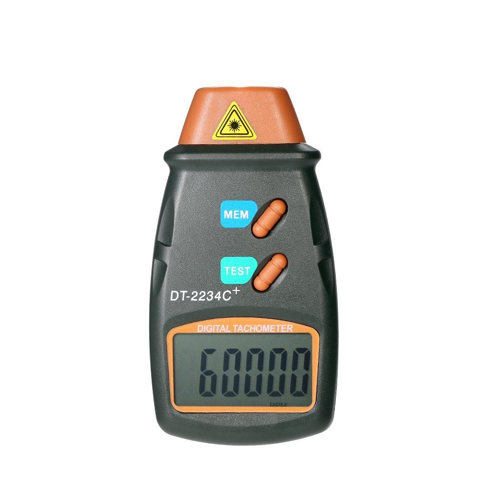 KKmoon Tachymètre Numérique de Poche de Laser Tachymètre Sans Contact Gamme 2.5RPM-99.999RPM Affichage à Cristaux Liquides Avec 3pcs Bande Réfléchissante IFMSSVHU1102