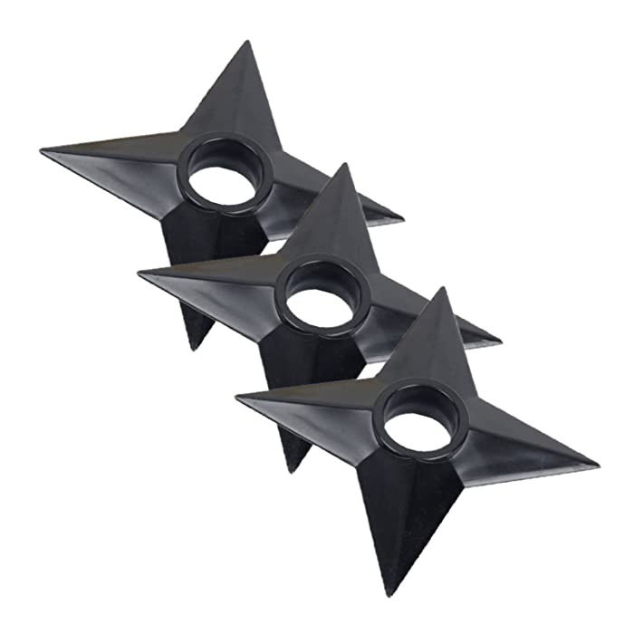 OIVA Set of 3 Pcs Ninja Weapons Naruto Shuriken Throwing Plastic Toy