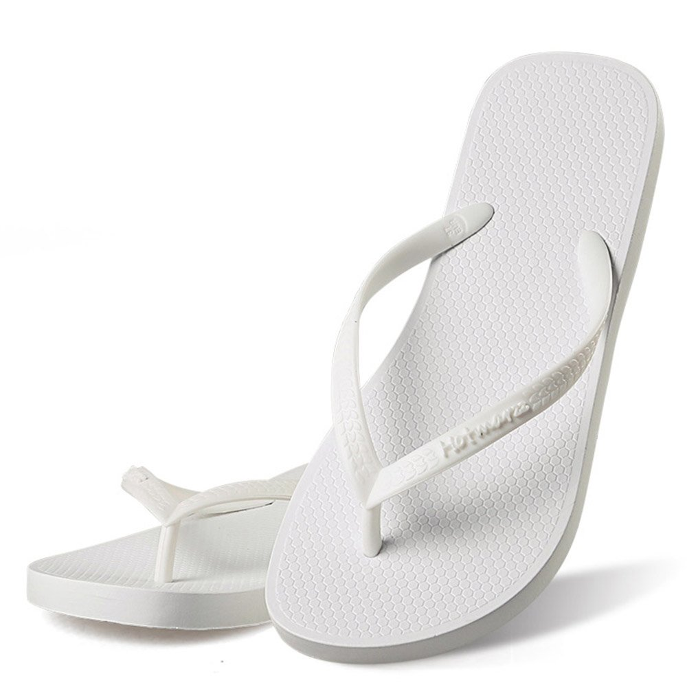 Hotmarzz Women's Slim Flip Flop Summer Flat Slippers Beach Thong Sandals Size 8 B(M) US/39 EU/40 CN, White