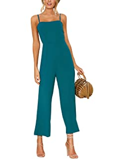 20890e7cb5bdff Carolilly Chic Damen Elegant Sommer Hosenanzug Jumpsuit Einteiler Ärmellos  Overall Romper