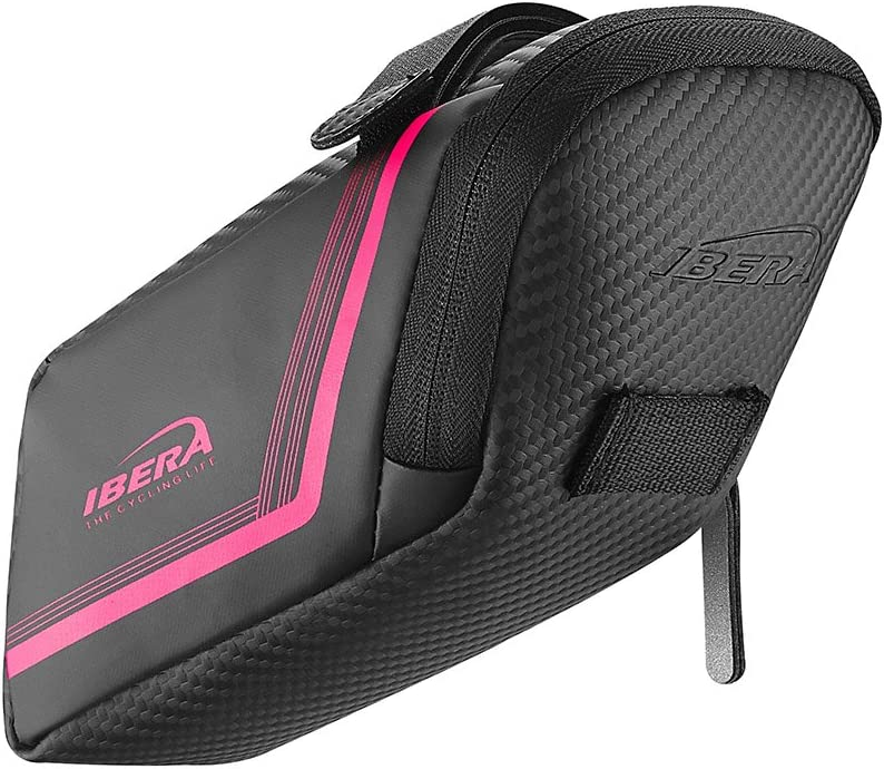 Ibera Bicycle Water Resistant Bike Saddle Bag//Seat Bag//Cycling Bag for Road and Other Bikes