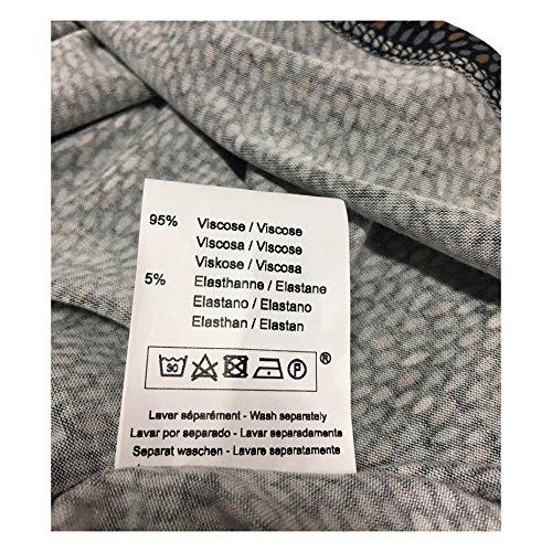 LA FEE MARABOUTEE abito donna grigio/nero 95% viscosa 5% elastan MADE IN ITALY