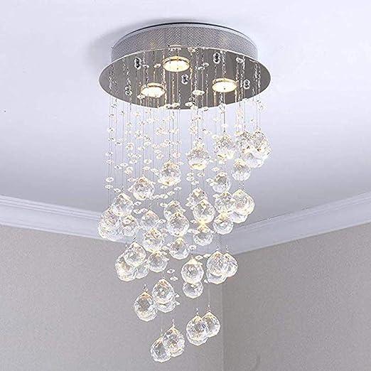 Design Lampe Kristall Spirale Esszimmer Beleuchtung Decken Leuchte Chrom Kugel