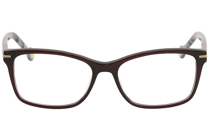 b7f17852cc CH Carolina Herrera Eyeglasses VHE729K VHE 729K 0954 Burgundy Optical Frame  53mm at Amazon Men s Clothing store