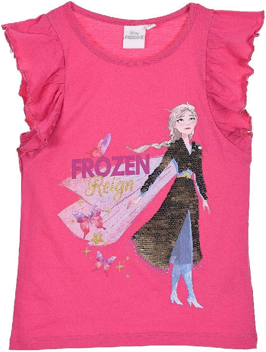 Frozen 2 T-Shirt Reversible Sequins Frozen Girls Anna and Elsa