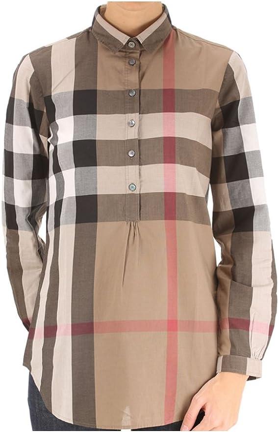 Burberry - Camisas - para mujer Marrón marrón X-Small: Amazon ...