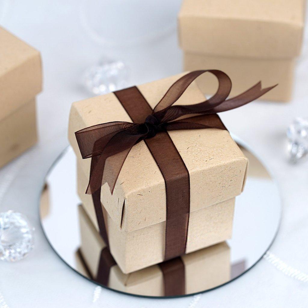 Efavormart Natural 2pc Favor Boxes - 100 boxes