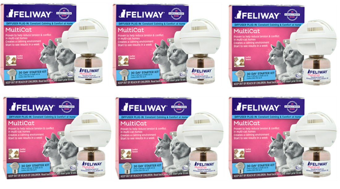 CEVA Animal Health Feliway MultiCat Starter Kit, 6Count by CEVA Animal Health