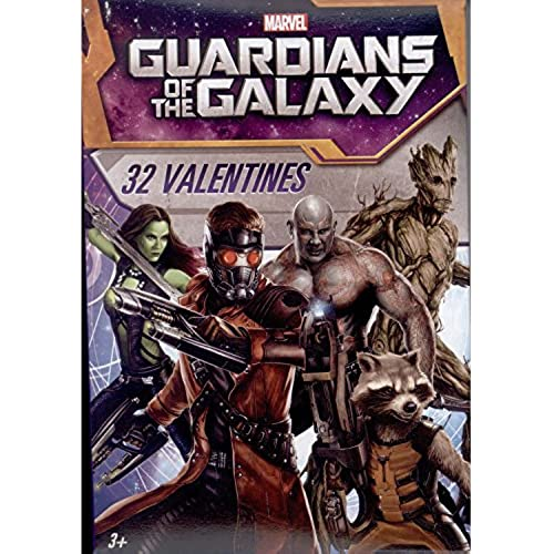 Paper Magic 32CT Showcase Guardians of the Galaxy Kids Classroom Valentine Exchange Cards Sales