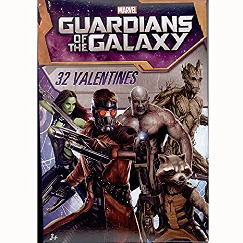 Paper Magic 32CT Showcase Guardians of the Galaxy Kids Classroom Valentine Exchange Cards (Exchange Valentines For Kids)