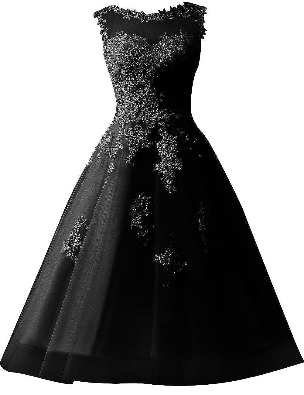 JAEDEN Wedding Dress Lace Bride Dresses Short Wedding Gown Tulle Vintage Bridal Dress Appliques E607-H