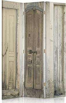 bilaterale a 3 Parti VERDO 110x150 cm Feeby Frames Il paravento Stampato su Telo,Il divisorio Decorativo per Locali Rosso Coccinella