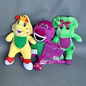 "Cute 3PCS Barney & Friend Baby Bop BJ Plush Doll Toy 7"" New"