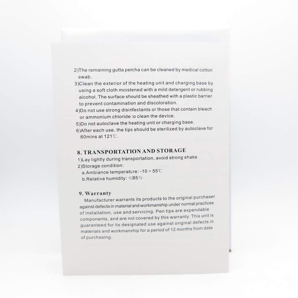 Obturation Pen - 2 Tips Endodontic Endo Gutta Percha Points Heater Plugger Dissolved Breaker Whitening