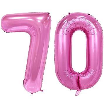 Amazon 40inch Jumbo 70 Rose Pink Foil Helium Digital Number