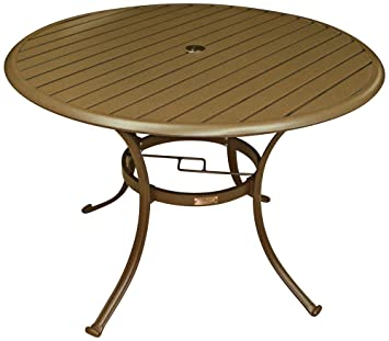 Great Amazon.com : Panama Jack Outdoor Island Breeze Slatted Aluminum Round  Dining Table In Espresso Finish With Umbrella Hole, 42 Inch : Patio Dining  Tables ...