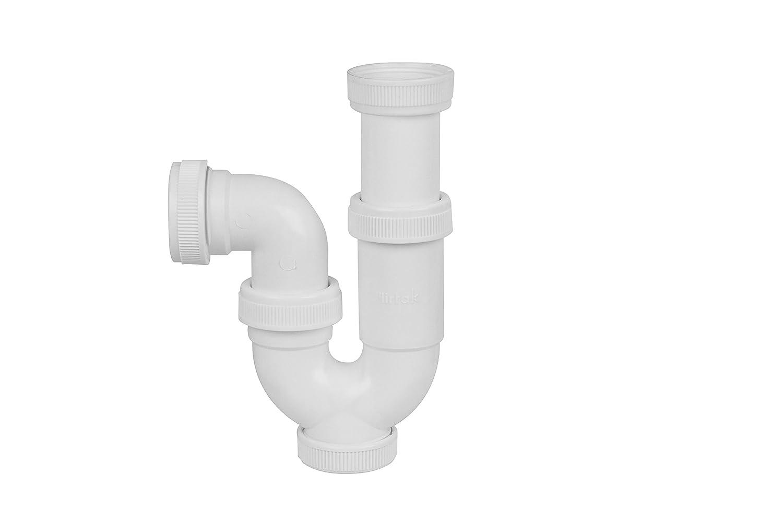 con v/álvula Aqualy BO-43451 Sif/ón curvado para lavabo y cocina