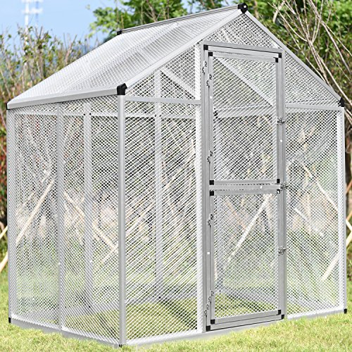 Bestmart INC LARGE Aluminum Bird Cage Walk In Aviary W/4Peg NEW ( 3 Doors) by Bestmart INC