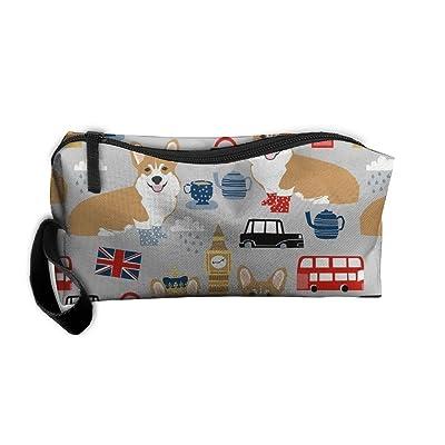 e446baaab19f chic Cosmetic Bags Corgi(5) Makeup Bag With Brush Pouch Portable ...