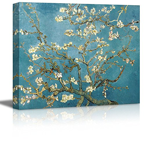 "Wall26 - Almond Blossom by Vincent Van Gogh - Oil Painting Reproduction on Canvas Prints Wall Art, Ready to Hang - 16"" x 20"""