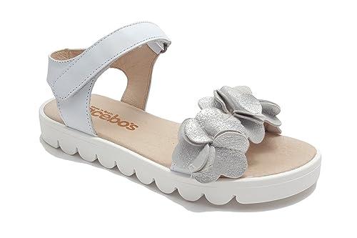 06f6a3d52 Sandalia Niña Marca AceboŽs Color Plata T38  Amazon.es  Zapatos y  complementos