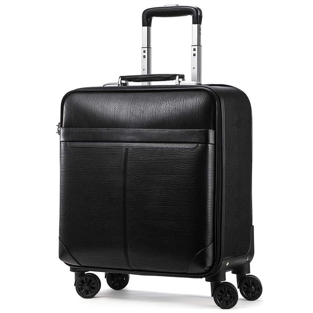 ラゲッジスーツケース、軽量合成皮革ラゲッジ、20インチスクエアビジネススーツケース、短期間のキャビンチェックイン用トロリー B07SZH3CM1