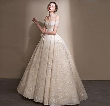 LUCKY-U Vestido De Novia, Elegante Mujer Vestido De Novia Parte Vestido De Matrimonio